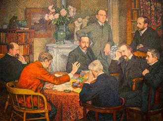 """""""La lecture chez Verhaeren"""" de Théo Van Rysselberghe © Museum voor Schone Kunsten, Gent"""