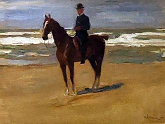 Peinture de Max Liebermann, à la Kuntshalle de Brême. Photo: Agathe Bonnet