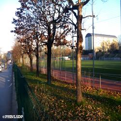 le CVentre sportif Léo Lagrange, le long du boulevard Poniatowski. Photo: PHB/LSDP