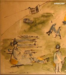 Détail d'une oeuvre de Zadkine à la guerre. Photo: PHB/LSDP