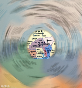 carte du burkina faso photo: PHB/LSDP