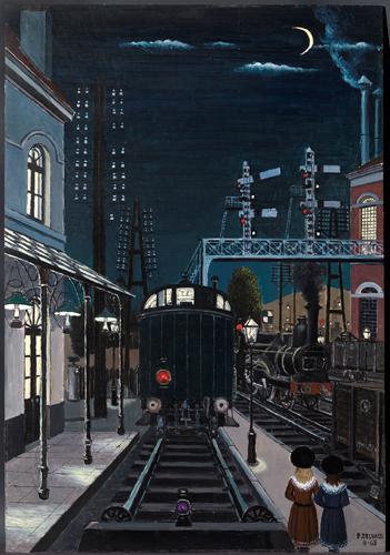 Gare la nuit Paul Delvaux 1963